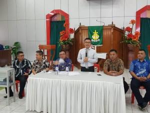 Pnt Ir Stefanus BAN Liow memimpin Rapat Perdana usai pelantikan