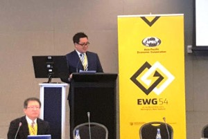 Wagub Kandouw Jadi Guest Speaker pada 4th APEC Energy Working Group di Welington New Zealand