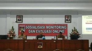 administrasi pembangunan Setdakab Minahasa, Sosialisasi Monitoring ,Evaluasi Online , operator EPPA minahasa