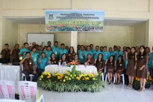 Foto bersama peserta pelatihan dengan Wakil Wali Kota dan instansi teknis serta narasumber