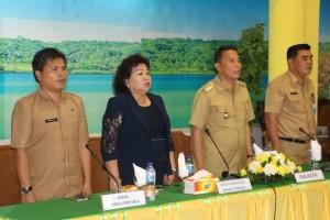 Wali kota, Ketua PN Tondano, Kabag Protokol Setdaprov Sulut  serta Kabag Humas dan Protokol Tomohon
