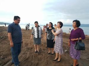 Pnt Ir Miky JL Wenur meninjau lokasi pelaksanaan Ibadah Syukur HUT ke-80 W/KI GMIM