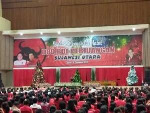 DPD PDI-P Sulut Gelar Ibadah Pra Natal Di Tondano, OD: Calon Bupati Prioritas Ketua DPC