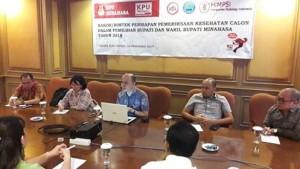 KPU Minahasa, Ikatan Dokter Indonesia, Badan Narkotika Nasional, Himpsi