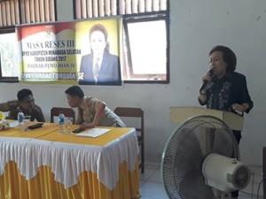 DPRD Minsel, reses DPRD Minsel , Johana Jenny Tumbuan