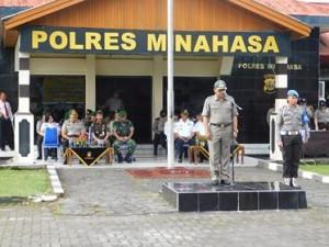 Kodim dan Polres Minahasa Apel Gelar Pasukan Operasi Lilin 2017