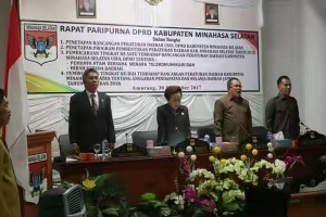 Rapat Paripurna Ranperda APBD 2018 DPRD Minsel2