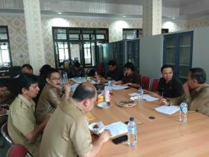 Rapat Bapemperda DPRD Tomohon dengan eksekutif