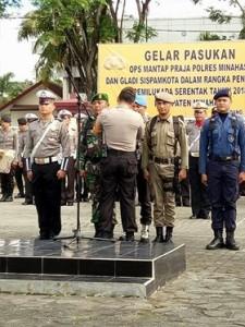 Kodim 1302/min Siap Bersama Polres Minahasa Amankan Pilkada 2018