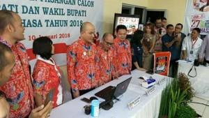 KPU Minahasa ,Meidy Y Tinangon M.Si, Pilkada Minahasa 2018 , Penetapan Calon Bupati