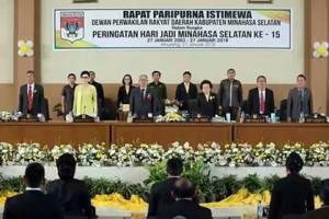Peringati HUT ke 15 Kabupaten Minsel DPRD Gelar Rapat Paripurna Istimewa3