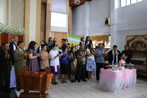 HUT ke-18, Wali Kota Tomohon Letakkan Batu Pertama Pembangunan Menara GMIM Kakaskasen Bait-el