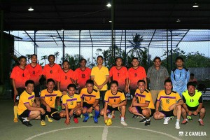 Kedua Tim usai friendly game