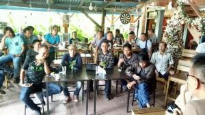 wartawan-wartawan Pos Liputan Kota Tomohon