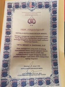 Kapolsek Tombatu ,IPTU Wensy Saerang