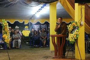 Wali Kota Tomohon membawakan sambutan