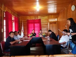 Senator SBAN Liow menerima usulan dari pengurus KONI Kota Tomohon