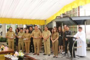 Ruangan Baru Wali Kota, Wawali dan Sekkot Tomohon Diresmikan