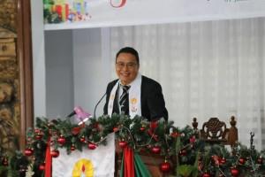 Wali Kota Tomohon memimpin Ibadan Tahun Baru
