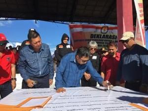 JS-Oke Ikut Deklarasi Kampanye Damai KPU Mitra