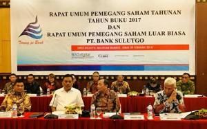 Rapat Umum Pemegang Saham Luar Biasa PT. Bank SulutGo