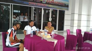 Gowes Bareng Lantamal VIII,Wakil Walikota Bitung, Ir Maurits Mantiri ,  Ahmadi Heri Purwono SE MM,