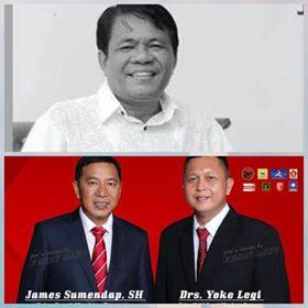Ketua Tim Pemenangan JS-Oke, Drs Jeremia Damongilala, Pilkada Mitra 2018
