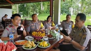 Kapolda Sulut saat berada di Kota Tomohon