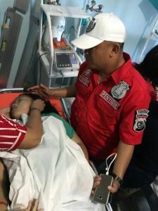 Kapolres Tomohon AKBP I Ketut Agus Kusmayadi SIK saat berada di RS Gunung Maria