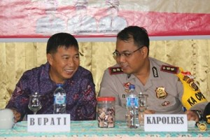 Kapolres Minahasa Selatan ,AKBP F.X Winardi Prabowo SH,  Tombatu Raya