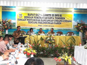 Wakil Ketua Komisi III DPD-RI saat memberikan sambutan