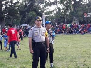 Polres Minahasa Kerahkan 232 Personil Amankan Deklarasi Kampanye Damai dan Road Show