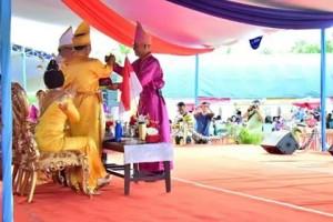 upacara adat Tulude,  tarian Ampa Wayer , Masamper, Tulude 2018