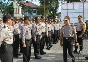 Kapolda Sulut Periksa Kesiapan Pengamanan Pilkada Minahasa 2018
