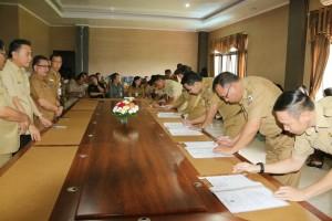 Kepala Perangkat Daerah menandatangani perjanjian kinerja