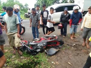 Salah satu sepeda motor milik korban yang tewas