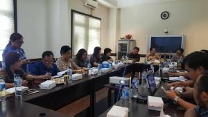 Pansus Ranperda Propempeda DFPRD Tomohon saat konsultasi ke Kanwil Kemenkumham Sulut