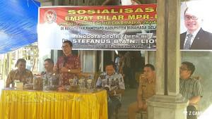 Senator Ir Stefanus BAN Liow saat memaparkan 4 Pilar MPR-RI
