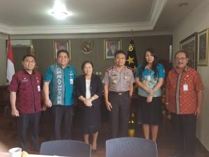 Persiapan Paskah se-Asia di Manado, Panitia Audiensi dengan Kapolda Sulut