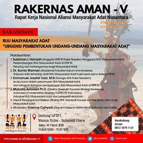 AMAN , Masyarakat Adat ,Arena Politik Elektoral, Aliansi Masyarakat Adat Nusantara , rakernas aman V 2018
