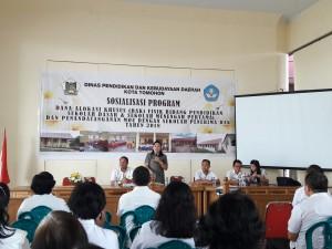 kadis Dikbud Dr Juliana Dolvin Karwur MKes MSi sosialisasi DAK tahun 2018