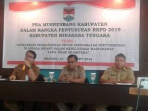 Gelar Pra Musrembang, Sekda Mitra Minta Perangkat Daerah Profesional Susun RKPD 2019