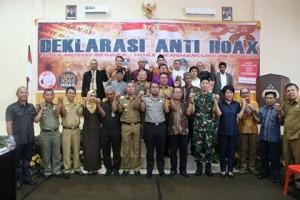 Jaga Persatuan dan Kesatuan Bangsa, Polres Minsel Deklarasi Anti Hoax
