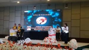 KPU Minahasa Gelar Debat Pilkada Minahasa 2018 Putaran Pertama