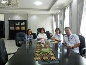 LPA Tomohon audiens dengan Ketua DPRD Kota Tomohon