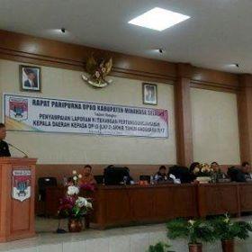 Rapat Paripurna Penyampaian LKPJ Kepala Daerah Kepada DPRD Minsel TA 20172