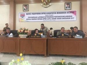 Rapat Paripurna Penyampaian LKPJ Kepala Daerah Kepada DPRD Minsel TA 20173