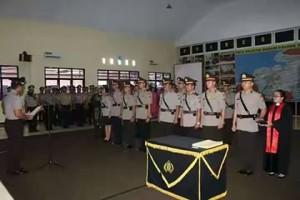 Reposisi Jabatan, Polres Minsel Miliki 2 Kasat dan 6 Kapolsek Baru