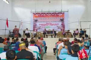 Kunker bupati jws, Kecamatan Eris, Lembean Timur ,Kombi