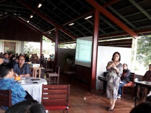 Ketua DPRD Tomohon Ir Miky JL Wenur memberikan materi